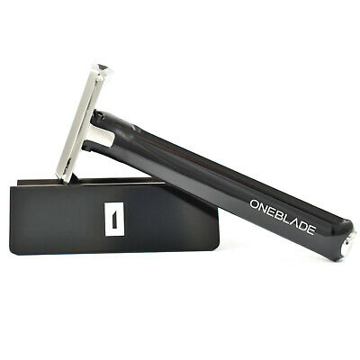 OneBlade Hybrid Single Edge Razor With Stand & 10 x Feather FHS-10 Blades