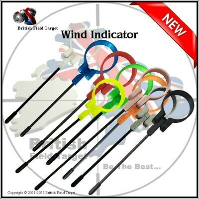 Carbon Fiber Field Target Sport Rifle Wind Indicator Various Colours & Sizes New