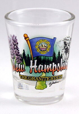New Hampshire Granite State Elements Shot Glass Shotglass