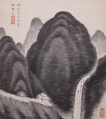 Vintage 20th Century Chinese Landscape Painting on Paper