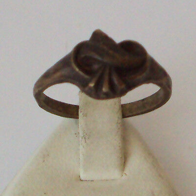 VINTAGE BRONZE RING WITH HEART-SHAPED FROM THE EARLY 20th CENTURY # 111