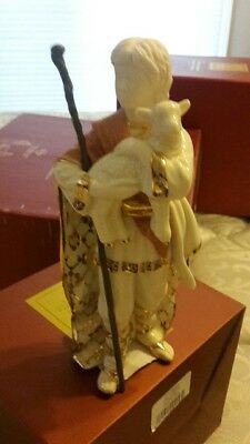 Lenox Shepherd Boy With Lamb First Blessing Nativity Porcelain Figurine