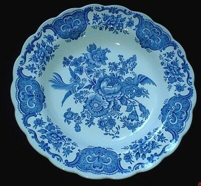 Ridgway 'Windsor' Blue / White 9 3/4  inch Rimmed Bowl (2 available) c1955-64