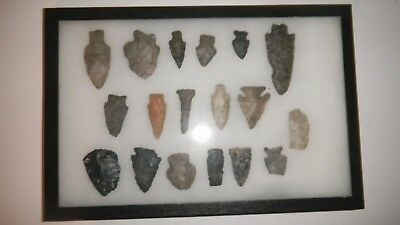 18-  Flint Arrow Head Indian Artifacts