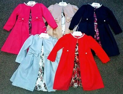Girls Kids Fashion Long Trench Coat Winter Warm Jacket Party Dress Outerwear New