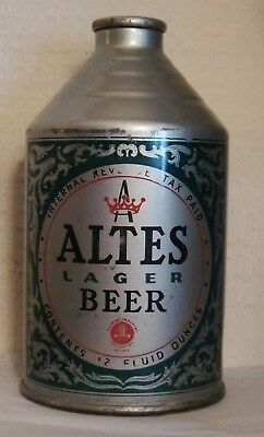 Altes Lager Beer Crowntainer Beer Can Irtp  Tivoli Brewing Co