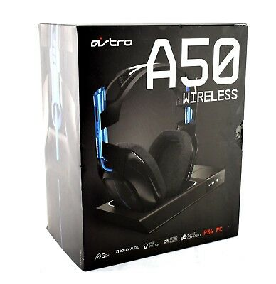 Astro Gaming A50 Black Blue Wireless Headset Dolby 7.1 for PS4 PS3 PC -JL232