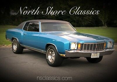 1972 Monte Carlo -BIG BLOCK 454/4 Speed-AC-SUSPENSION UPGRADES-SEE North Shore Classic Cars-WE DELIVER/FINANCE-CALL 847.393.7887  nsclassics.com