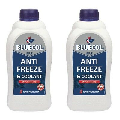 2 X Bluecol 2 Year Protection Blue Antifreeze Concentrate 1L -36 Protection