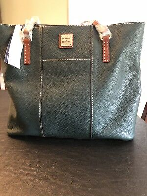 Dooney Bourke Large Lexington Shopper Tote Pebble Forrest Green $225 Retail NWT