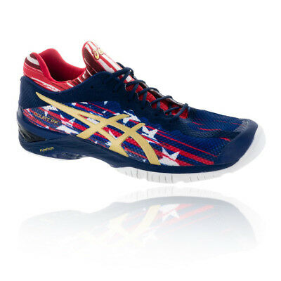 Asics Mens Court FF L.E. NYC Tennis Shoes Blue Sports Breathable Lightweight