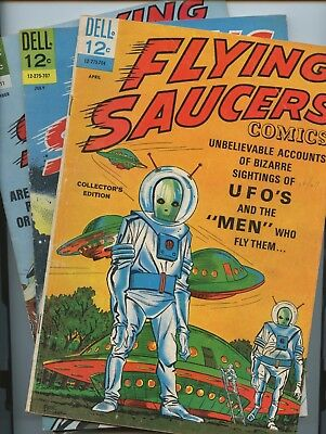 Flying Saucers  1, 2, 4 Dell 1967
