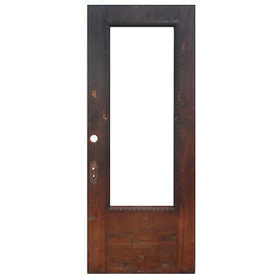 """Reclaimed 34"""" Antique Oak Door with Egg-and-Dart Detail, NED902"""