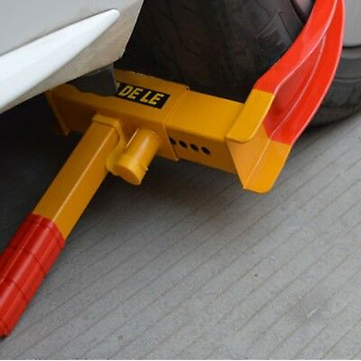 Flexzion Wheel Lock Clamp Anti-theft Towing Parking Boot Tire Claw Heavy Duty