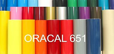 """6 Rolls Oracal 651 12"""" x 24"""" Craft Adhesive Vinyl CHOOSE your Colors Decal Signs"""