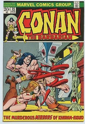 Conan The Barbarian #25 NM White Pages 1970 Series