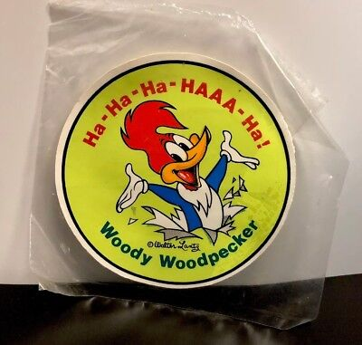 Extremely Rare Vintage Woody Woodpecker Sticker