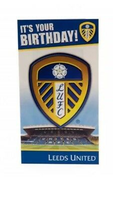 Leeds United FC Birthday Card  Official Club Merchandise Gift