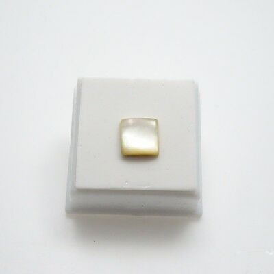 Mother of Pearl 10x10mm Square Cabochon - Natural MOP Cabochon