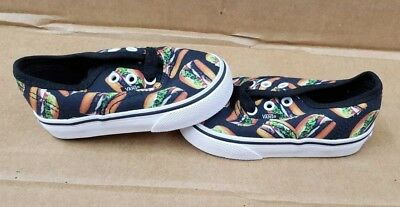 5ce16ccce7 Vans Authentic Late Night Hamburgers Black White Toddlers   Little Kids Us 5