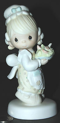 Rare Precious Moments There Is Joy In Serving Jesus Enesco Waitress Girl E-7157