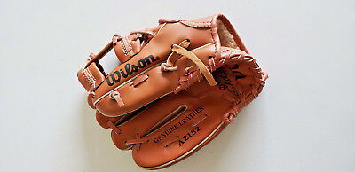 Baseball Glove Wilson A2182 Snap Action Youth Mitt Genuine Leather Roger Clemens