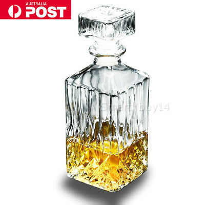 800ml Vintage Decanters Glass Liquor Whiskey Wine Crystal Bottles Carafe Stopper