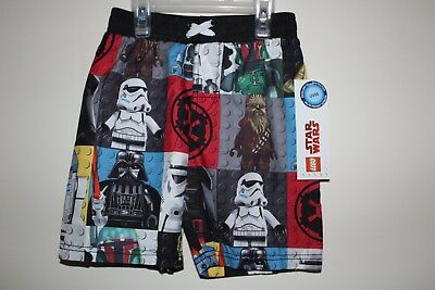 NEW Boy's Lego Star Wars Swim Trunks Size S(4/5) Board Shorts