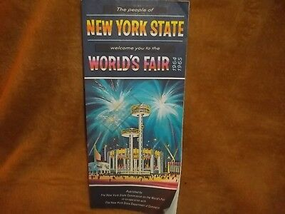 Vintage New York State Welcomes Worlds Fair 1964 1965 Nice Advertising