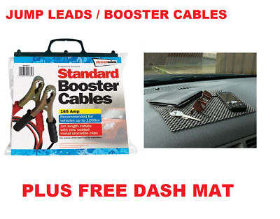 Streetwize Booster Cables 165 Amp 2 Metre - Jump Leads - SWBC2 & 9 LED Torch