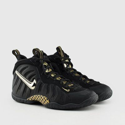 e72e54a99f56 Nike Air Foamposite Pro Black and Metallic Gold GS Foams Youth Kids Size 4-7