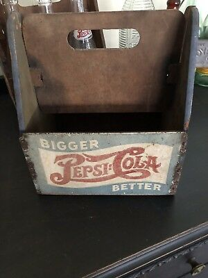 Rare Vintage 1940s PEPSI-COLA Masonite 6 Pack Bottle Carrier Double Dot