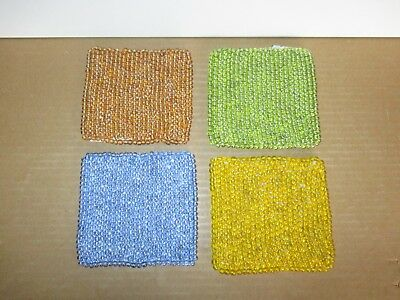 Denby Juice Set of 4 Beaded Coasters New First Quality Excellent Condition
