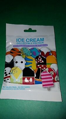 Disney Pins Ice Cream Character Mystery Pin Pack New Authentic Free Shipping
