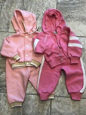 Vintage Lot of 2  Baby Doll Sweat suits 12 Month size