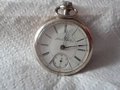 antique  pocket watch ILLINOIS  15  j c 1897 lever set