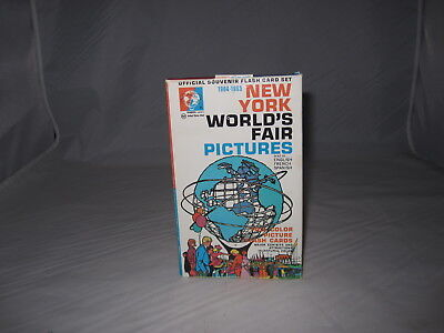 VINTAGE Complete 1964-1965 New York World's Fair Pictures 28 Flash Card Set
