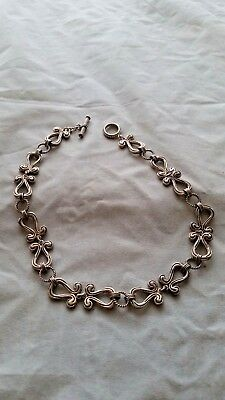 Vintage Egyptian Revival sterling silver 925 ankh Toggle Necklace