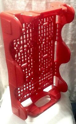 Coke Coca Cola Collectable Vintage Red Stackable Plastic Tray Crate