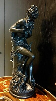 Antique Statue Of 'Lady With Doves'