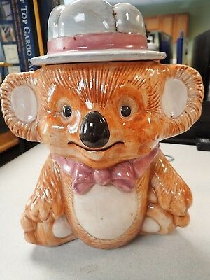 """USA Treasure Craft Teddy Bear Cookie Jar 12 """" tall, Will Hold a Lot of Cookies!"""