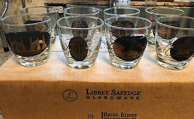 MIB 8 Vintage 1964 - 1965 New York World's Fair Old Fashioned Glass Set 9 oz