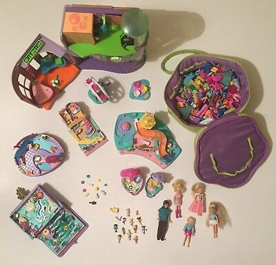 Vintage Polly Pocket Compact With Carry Case And Accessories Bundle