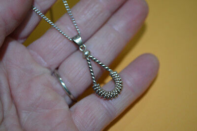 """STERLING SILVER Western BOSAL Handcrafted Pendant w/ 22"""" Chain"""
