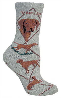 Vizsla Dog Breed Gray Lightweight Stretch Cotton Adult Socks