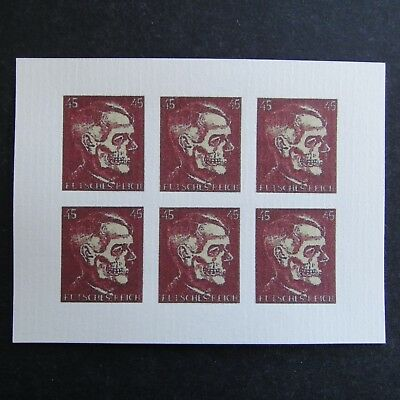 Germany Nazi 1944 1945 1946 Stamps MINT Block Adolf Hitler DEATH HEAD WWII Third