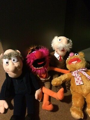 4 x Muppets teddies as bew condition just been stored