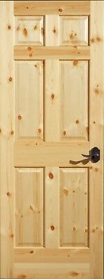 Knotty Pine 6 Panel Interior Door, Slab or Prehung. MANY SIZES. FREE SHIPPING