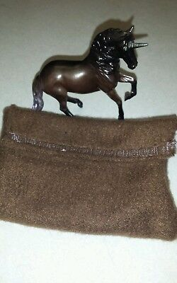 Breyer  horse stablemate Alborozo custom unicorn with pony pouch