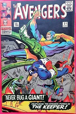 AVENGERS 31 Marvel Silver Age 1966 Scarlet Witch & Quicksilver quit the Avengers
